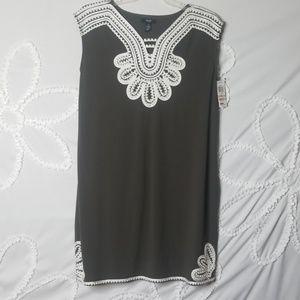Alfani Dresses - Olive Green Embroidered Dress BNWT!